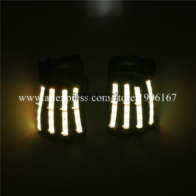 Led Gloves Stage Show Props LED Light up Gloves Glow Party Supplies14