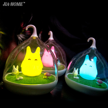 Asign Night Light Style Totoro USB Portable LED Nightlight Lamp For Gift Touch Sensor for baby Bedside Lamp(China)