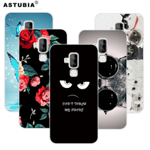ASTUBIA Case For Homtom S8 5.7 Cover For Homtom S8 Case Cute Glass Cat Flower Painted Hard Cover For Homtom S8 Smartphone Fundas(China)