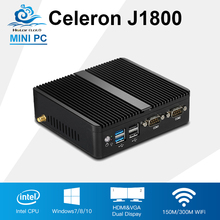 Mini PC Celeron J1800 2.41GHz Dual Lan Mini Industrial Computer N2830 Thin Client Fanless Design Windows 10 Desktop PC