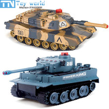 2017 1:24 Scale RC Battle Tank Toy Simulation Infrared RC Battle Car Control Vehicle Military toy For Adults And Children gifts(China)