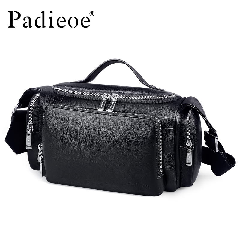 Padieoe Men's Large Capacity Genuine Leather Travel Bags Durable Man Travel Bags Hand Luggage Leather Large Shoulder Weekend Bag(China)