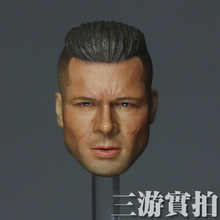 Dreamer 1/6 Fury Brad Pitt Scar Face Head Sculpt for Action Figure DIY(China)