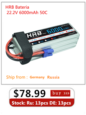 Wholesale HRB Lipo Battery 6S 22.2V 22000MAH 25C Max 50C With XT60 RC AKKU Bateria for Airplane Helicopter Boat FPV Drone UAV