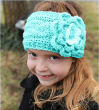 2016 New 10pcs/lot Winter Girls Headband Crochet Headwrap Knitted Flower Hair Band Ears Warmer kids Hair Accessories