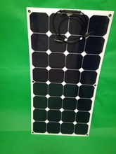 Semi-Flexible Bendable 100w 100 Watt Lightweight Solar Panel 12v Battery free shipping(China)