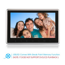 10.1 Inch Ultra-thin Car Headrest DVD Player DC 12V 16:9 HD 720P/1080P TFT LCD Screen Multimedia Player Headrest Monitor