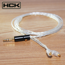 New NICEHCK Custom Made High Quality 6 Cell Pure Silver Earphone Upgrade Cable Ues For Shure SE535 SE315 SE215 SE425 SE846 UE900(China)