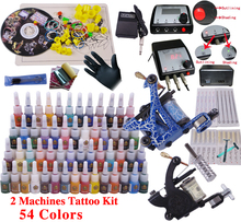 tattoo machine set complete 2pcs tattoo machine ink tip tool equipment tattoo body paint best tattoo machines price