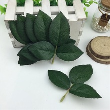 50pcs Cheap Silk Leaf Green Leaves Artificial Flower For Wedding Decoration DIY Wreath Gift Scrapbooking Craft Fake Flower