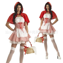 Adults Halloween Costumes Girls Little Red Riding Hood Costume Women Cosplay Fantasy Game Uniforms Fancy Dress Outfit S-6XL(China)