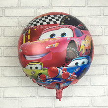 XXPWJ New 18inch cartoon pet car round aluminum balloons balloon wholesale and retail children's toys I-015(China)