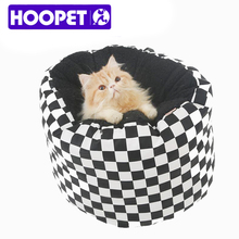 Pet bed lattice PU classic black and white leather is soft deep sleep warm cat cat bed small pet products manufacturers #T