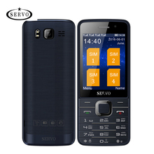 Hot Sale Original Servo V9500 Quad SIM Cards 2.8 inch HD Mobile Phone GPRS Bluetooth vibration MP4(China)