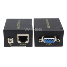 1 Pair VGA 60M Amplifier VGA Extender Female To Lan Cat5 Cat5e RJ45 Ethernet Female Adapter Connector HY1299