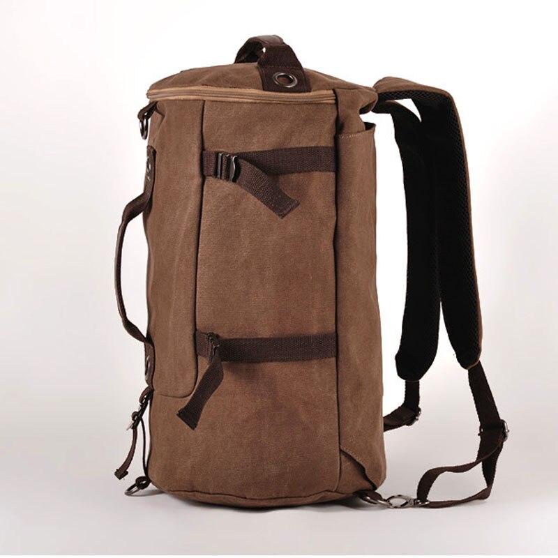 Mens Multi-Functional Backpack Vintage Shoulder Bag High Quality Canvas Male Bagpack Rucksack Travel Luggage for Weekend<br><br>Aliexpress