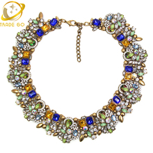 2015 New Fashion A Brand Crystal Pendant Necklace Designer Women Necklaces & Pendants Jewelry Name Statement Necklace For Women