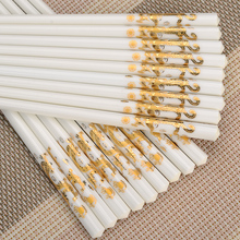 10 pairs/lot Bone China chopsticks set  Antifouling Mildew Eco-friendly Health Kitchen Tool 10 Sushi chopstick Gift