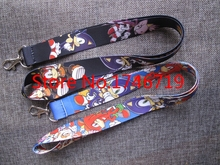 Mixed 10 Pcs Popular Cartoon Sonic  Lanyards Neck Strap Keys Camera ID Card Lanyard Mobile Phone Neck Straps S-16