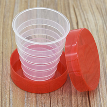 Folding Plastic Cups Portable Collapsible Telescopic Cups Camping Hiking Drinkware Outdoor tools
