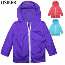 Outdoor Girl Baby Kids Boy Raincoat Waterproof Hooded Rain Coat Jacket Outwear For Children Rainwear/Rainsuit R20