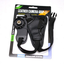 camera  Black small triangle Leather Soft Wrist Hand strap for canon nikon SLR/DSLR Free shipping+ tracking number
