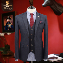 New brand clothing business fromal men suts tuxedo coat/vest/pant slim fit boy prom suits groom wedding suits single breasted