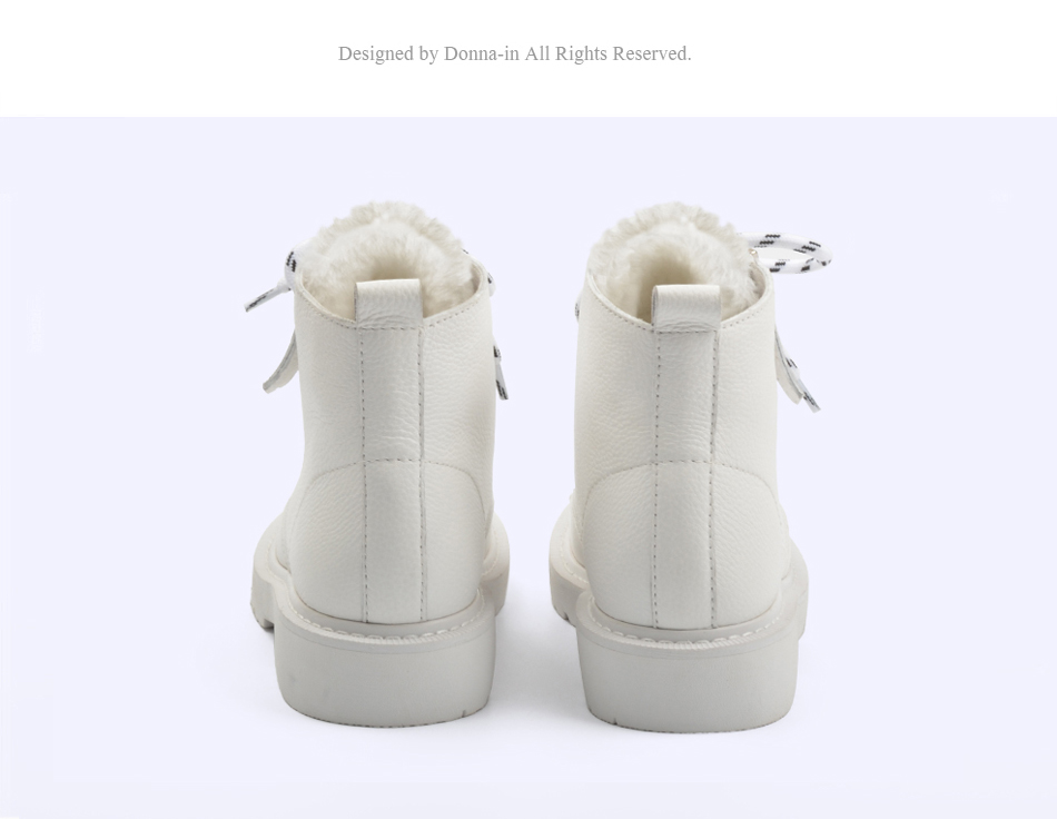 Donna-in Winter Martin Boots Women Platform Ankle Boots Heels White Motorcycle Punk Booties Fur Lace Up Snow Shoes for Ladies (2)