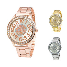 Wristwatches Lady Girls Christmas Gift Clock Stainless Steel Pointer Quartz Wrist Watches Women Women's Watch Montre Femme
