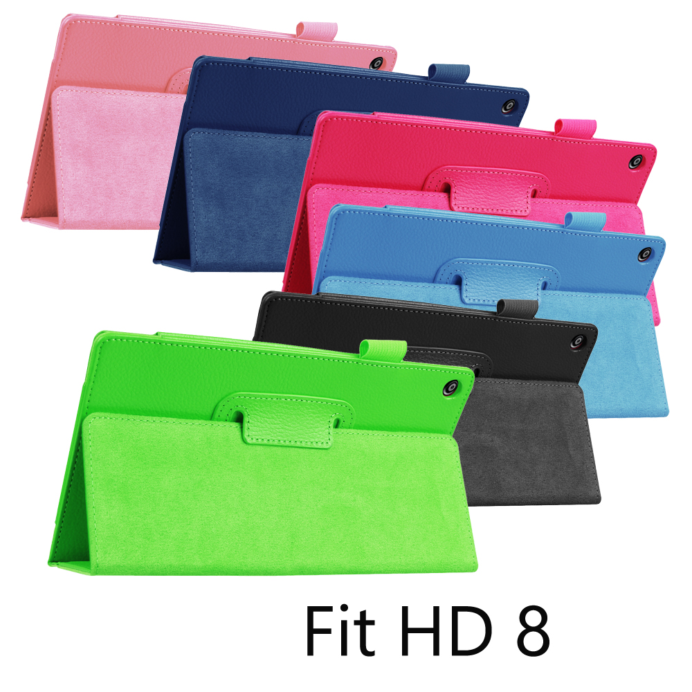 """For Amazon Kindle Fire HD 8 2015/2016 Tablet Case Tri-Fold Ultra Slim Magnetic Flip Stand PU Cover for 2016 KindleFire HD8 8"""""""