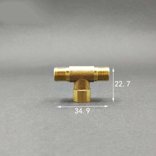 "1/8"" BSP Male x 1/8"" BSP Female x 1/8"" BSP Male Thread Tee Type 3 Way Brass Pipe Fitting Adapter Coupler Connector"