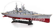 RC Boat Bismarck Battleship 1:360 Scales Warship Model Remote Control High Simulation Large RC Warship Toys(China)