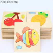Wooden 3D Puzzle Jigsaw Wooden Toys For Kids Animals Puzzle Wooden Educational Toys Games For Children Gifts puzzles toys(China)