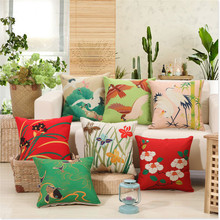 RUBIHOME Wholesale(7pieces/lot)Back Cushion Cover Flower Design Home Decor Sofa Car Seat Decorative Throw Pillow Good Funda