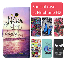 Buy Fashion cartoon printed flip wallet leather case Elephone G2 Card Slot phone bag book case,free gift for $4.49 in AliExpress store