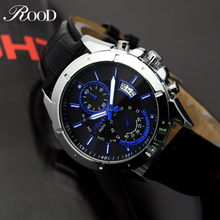mens watches top brand luxury quartz watch Waterproof Luminous Male Date Clock Fashion Wristwatch Casual Business Leather Watch