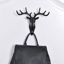 Creative Plastic Deer Head Antlers 3D Wall Hook for Hanging Clothes/Hat/bag/Scarf/Key Decorative Hooks E2S(China)
