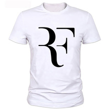 Mens T Shirts Fashion 2017 New Famous Brand Men Clothing Slim Fit Roger Federer T Shirt Man T-shirts Tops Tees
