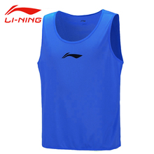Li Ning Original Men Soccer Jerseys 100% Polyester Sleeveless Vest Li Ning Sports Tops AVSK297