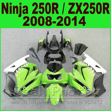 OEM color Kawasaki Ninja 250r green white Fairings EX250 year 2008 2009 2010 2011 2012 2013 2014 ZX 250 fairing kits parts R9O1