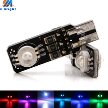 YM E-Bright!! New Strobe!! 2Pcs/Lot T10 194 168 6W 15 Patterns 15 Colors Strobe LED Flash Lamps External Lights Reverse Light(China)
