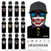 Magic Headband Death Knight Pirate Scarf Skull Skeleton Ghost Ski Cycling Headwear Headband Motorcycle Neck Bandana 3D Face Mask