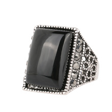 Square Plating alloy ancient  Resist allergic ring restoring ancient ways Fashion ring for men Jewelry Free Shipping