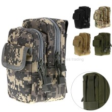 Outdoor Tactical Molle Waist Bag Military Two 2 Way Men's Hip Fanny Army Sports Camo Belt Pack for Mobile Cell Phone/Smartphone