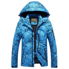 2016 Winter New Fashion Brand Clothing Men's Down Jacket Thick Camouflage Eagle White Goose Down Jacket Coat Tide Parks 3XL
