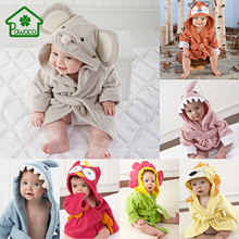 Cute Animal Shaped Kid Baby Bath Towel Lovely Cartoon Hooded Bathrobe Bathing Blanket Bedding Swaddle Modeling Beach Towels