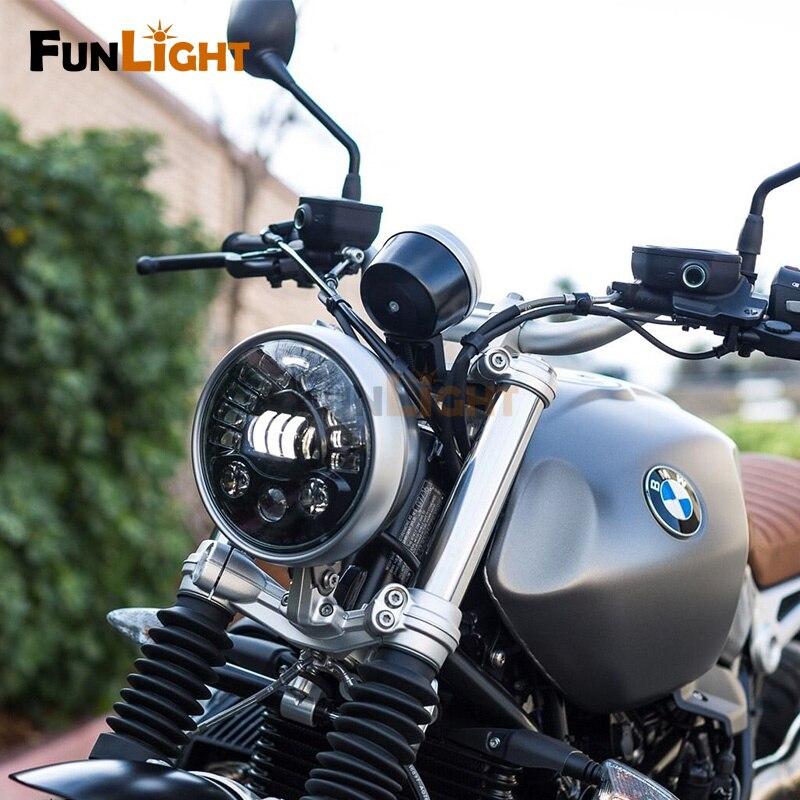 Details about Motodemic BMW R NineT R9T Adaptive LED Headlight Upgrade (1)