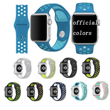 High quality Silicone wrist band for Apple Watch for iwatch Strap Sports link Bracelet 42mm 38mm Series 1 2 3