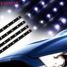 Tiptop New 4pcs Perfect for Decoration White 30CM/15 LED Car Motors Truck Flexible Strip Light Waterproof 12V SEP30