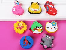 Soft Plastic Kids Dresser Drawer Knob Pull Handle Seven Dwarfs Baby Boys Children Cabinet Knob Pull Handle Furniture Hardware